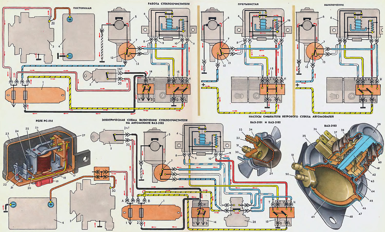 Схема дворников на 21213