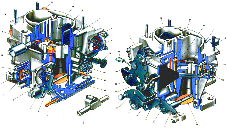 Схема устройства карбюратора дааз 2107 1107010