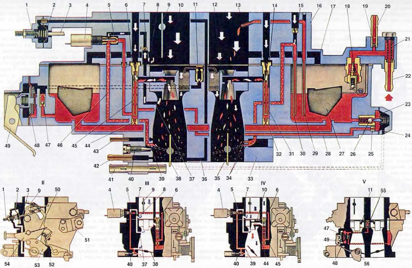 Схема подключения карбюратор 2141