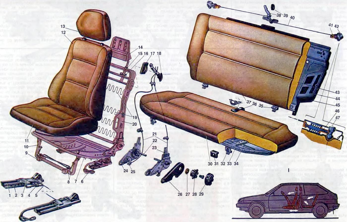 Крепление сидений своими руками 14