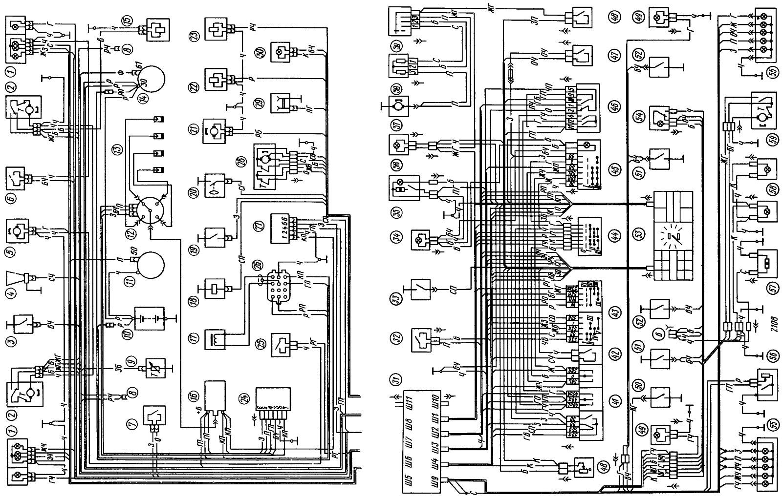 Электрическая Схема Ваз 2109 Инжектор - tokzamer.ru