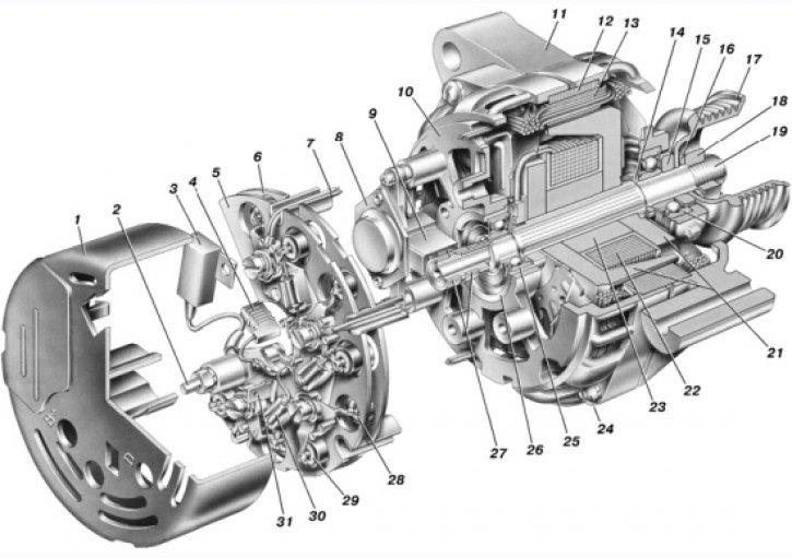2969 - Схема возбуждения генератора ваз 2114